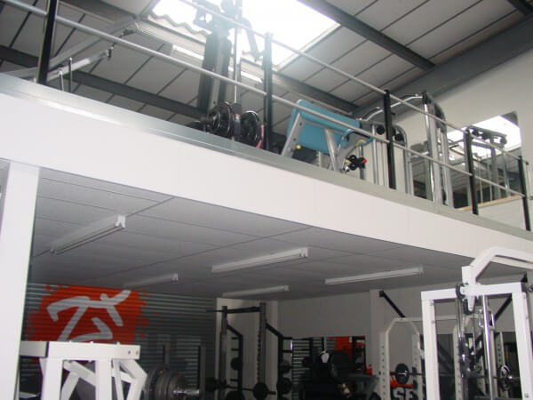 Mezzanine with Suspended Ceiling